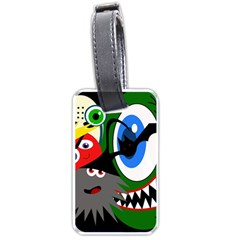 Halloween monsters Luggage Tags (One Side)