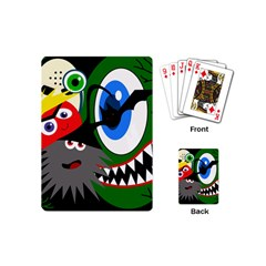 Halloween monsters Playing Cards (Mini)
