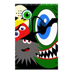 Halloween monsters Shower Curtain 48  x 72  (Small)