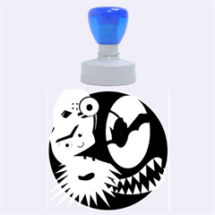 Halloween monsters Rubber Round Stamps (Large)