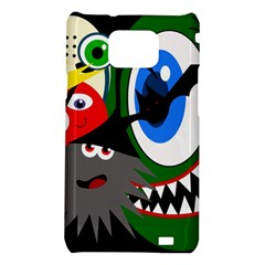 Halloween monsters Samsung Galaxy S2 i9100 Hardshell Case