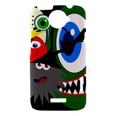 Halloween monsters HTC One X Hardshell Case
