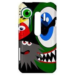 Halloween monsters HTC Evo 3D Hardshell Case