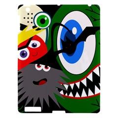 Halloween monsters Apple iPad 3/4 Hardshell Case