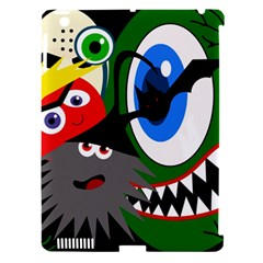 Halloween monsters Apple iPad 3/4 Hardshell Case (Compatible with Smart Cover)
