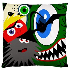Halloween monsters Large Cushion Case (Two Sides)