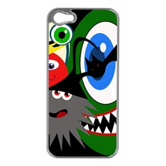 Halloween monsters Apple iPhone 5 Case (Silver)