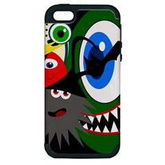 Halloween monsters Apple iPhone 5 Hardshell Case (PC+Silicone)