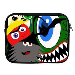 Halloween monsters Apple iPad 2/3/4 Zipper Cases