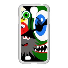 Halloween monsters Samsung GALAXY S4 I9500/ I9505 Case (White)