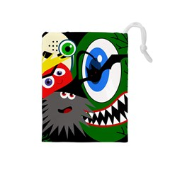 Halloween monsters Drawstring Pouches (Medium)