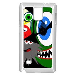 Halloween monsters Samsung Galaxy Note 4 Case (White)