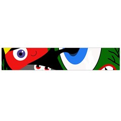 Halloween monsters Flano Scarf (Large)