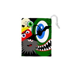 Halloween Monsters Drawstring Pouches (xs)