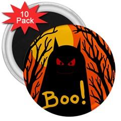 Halloween monster 3  Magnets (10 pack)