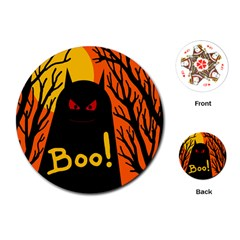 Halloween monster Playing Cards (Round)