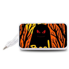 Halloween monster Portable Speaker (White)