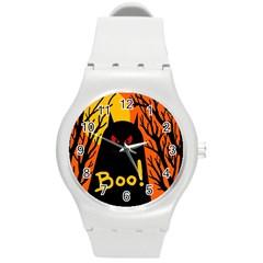 Halloween monster Round Plastic Sport Watch (M)