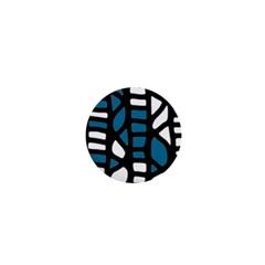 Blue decor 1  Mini Buttons