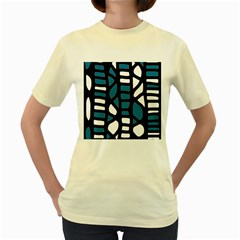 Blue decor Women s Yellow T-Shirt