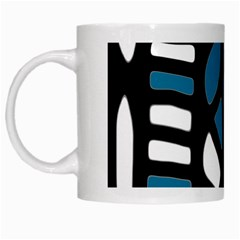 Blue Decor White Mugs