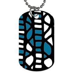 Blue decor Dog Tag (One Side)