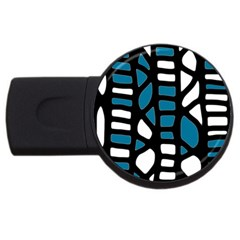Blue decor USB Flash Drive Round (1 GB)