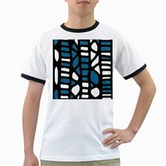 Blue decor Ringer T-Shirts