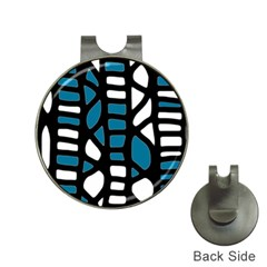 Blue decor Hat Clips with Golf Markers