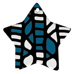 Blue decor Star Ornament (Two Sides)