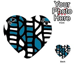 Blue decor Playing Cards 54 (Heart)