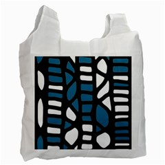 Blue decor Recycle Bag (Two Side)