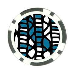 Blue decor Poker Chip Card Guards (10 pack)