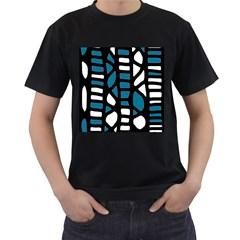 Blue decor Men s T-Shirt (Black)