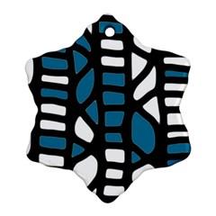 Blue decor Ornament (Snowflake)