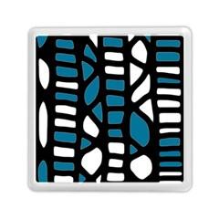 Blue decor Memory Card Reader (Square)