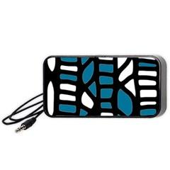 Blue decor Portable Speaker (Black)