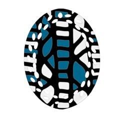 Blue decor Ornament (Oval Filigree)