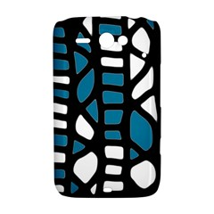 Blue decor HTC ChaCha / HTC Status Hardshell Case