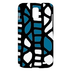 Blue decor Samsung Galaxy S II Skyrocket Hardshell Case