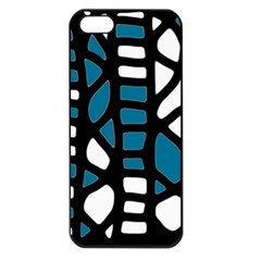 Blue decor Apple iPhone 5 Seamless Case (Black)