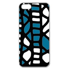 Blue decor Apple Seamless iPhone 5 Case (Clear)