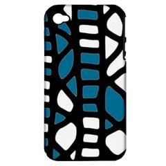 Blue decor Apple iPhone 4/4S Hardshell Case (PC+Silicone)