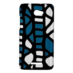 Blue decor HTC Butterfly X920E Hardshell Case