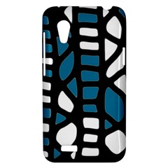 Blue decor HTC Desire VT (T328T) Hardshell Case