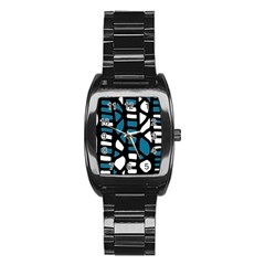 Blue decor Stainless Steel Barrel Watch