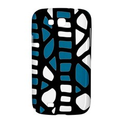 Blue decor Samsung Galaxy Grand GT-I9128 Hardshell Case