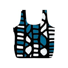 Blue decor Full Print Recycle Bags (S)