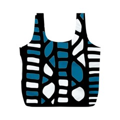 Blue decor Full Print Recycle Bags (M)