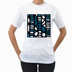 Blue decor Women s T-Shirt (White)